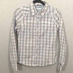 Columbia Plaid Omni-Shade Long Sleeve Shirt size S